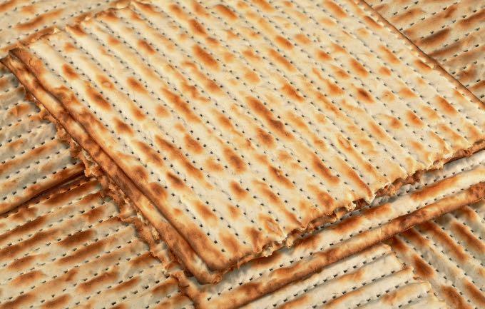 pile of matzah